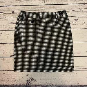 Ann Taylor Black&White skirt sz. 8